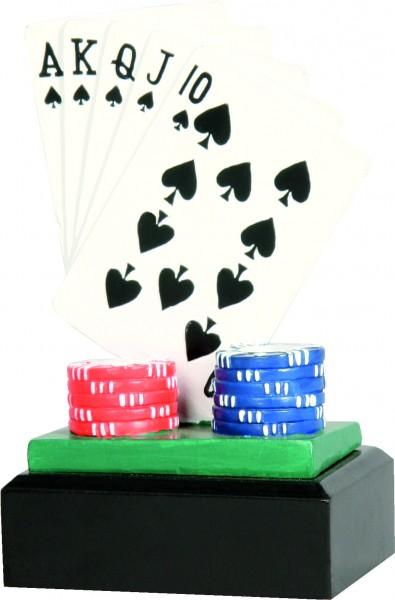 Trophäe Pokerspiel RFST2039 inkl.Gravur