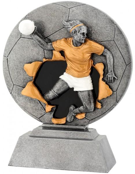 Handballerin-Trophy in 3D Optik inkl. Gravur