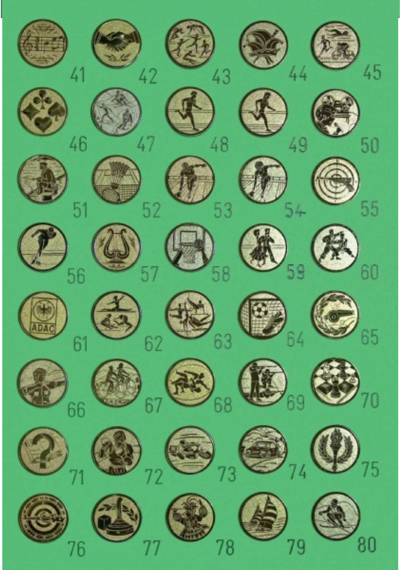 Übersicht über die verfügbaren Embleme bei Pokale NRW - Teil B