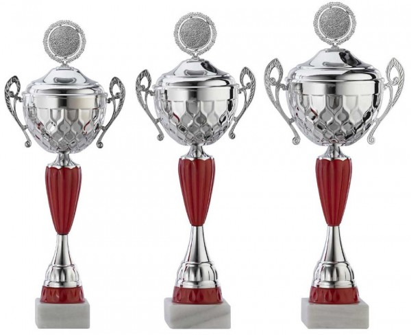 3er-Serie Pokale A4012 inkl. Gravur und Emblem
