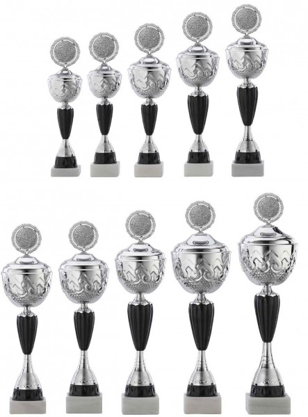 10er-Serie Pokale A4014 inkl. Gravur und Emblem
