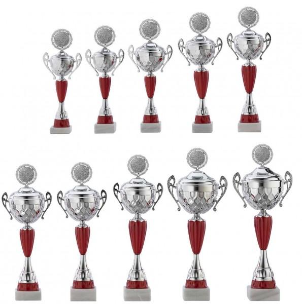 10er-Serie Pokale A4012 inkl. Gravur und Emblem