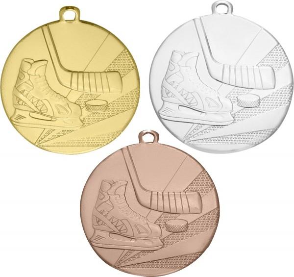 Eishockey-Medaille D112 inkl. Band und Beschriftung
