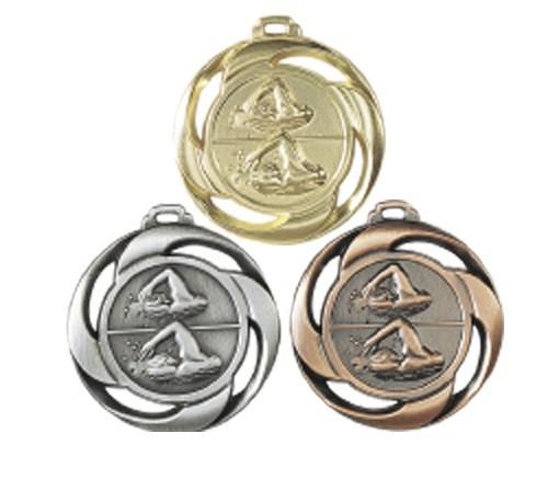 Schwimm-Medaille NF08 inkl. Band und Beschriftung