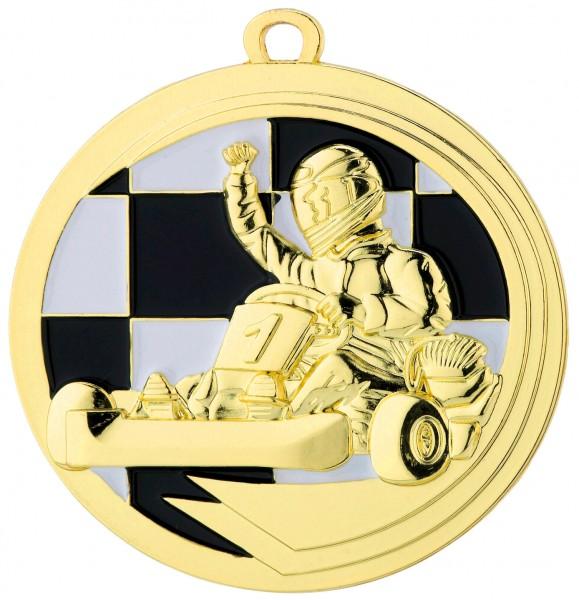 Medaille Kart D39 inkl. Band und Beschriftung