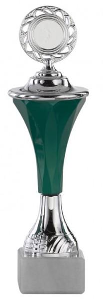 Pokal-Ständer Grün-Silber A294 inkl. Gravur und Emblem