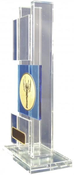 Glas-Säulenpokale W240 inkl. Emblem und Gravur