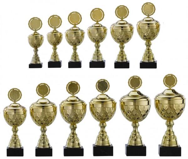 12er-Serie Pokale A4013 inkl. Gravur und Emblem