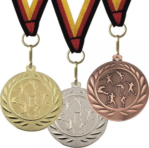 Leichtathletik-Medaille DI15000K inkl. Band und Beschriftung