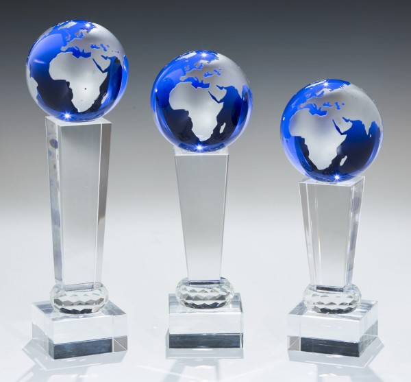 Glas-Weltkugel Blau inkl. Gravur