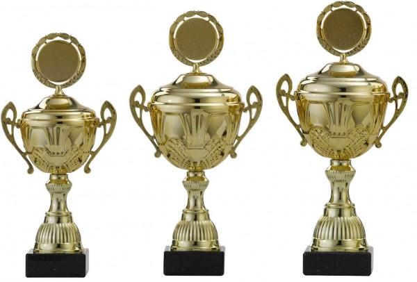 3er-Serie Pokale A4009 inkl. Gravur und Emblem