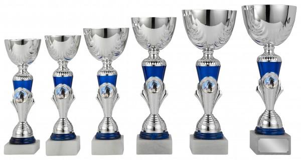 6er-Serie Pokale S413 inkl. Gravur und Emblem