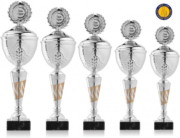 5er-Serie Pokale NRW Line Biggi-GS inkl. Gravur und Emblem
