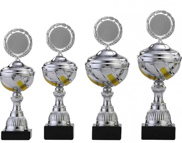 4er-Serie Pokale A1036 inkl. Gravur und Emblem