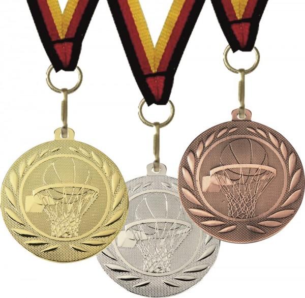 Basketball-Medaille DI5000M inkl. Band und Beschriftung