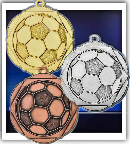 Fußball-Medaille D5A inkl. Band und Beschriftung