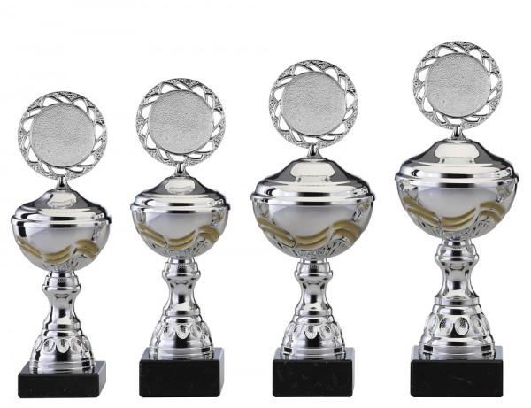4er-Serie Pokale S466 inkl. Gravur und Emblem