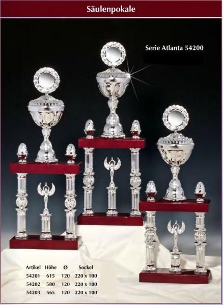 2 -Säulenpokal Atlanta inkl.Emblem und Gravur