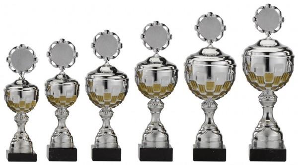 6er-Serie Pokale A4001 inkl. Gravur und Emblem