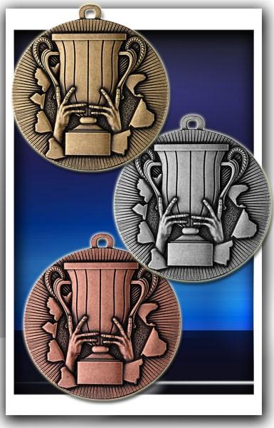 Pokal-Medaille D50A inkl. Band und Beschriftung