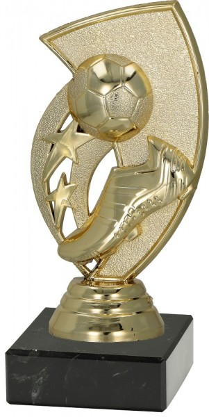 """Fußballständer 2D """"Schuh-Pokal-Ball"""" 12 cm inkl. Beschriftung"""