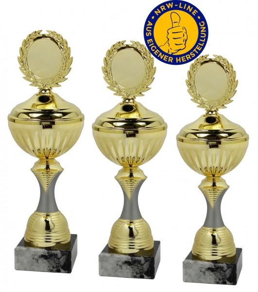 3er-Serie Pokale NRW Line inkl. Gravur und Emblem