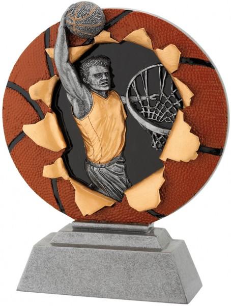 Basketball-Trophy in 3D Optik inkl. Gravur