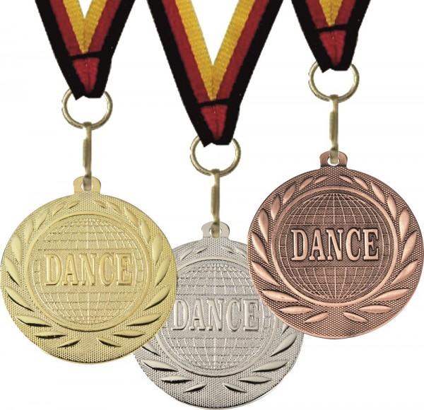 Dance-Medaille DI15000R inkl. Band und Beschriftung