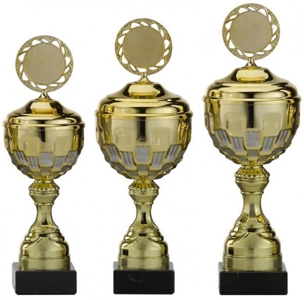 3er-Serie Pokale A4004 inkl. Gravur und Emblem