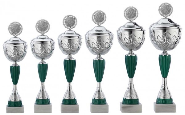 6er-Serie Pokale A4016 inkl. Gravur und Emblem