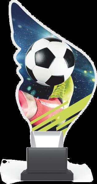 Acryltrophäe Fußball inkl. Gravur