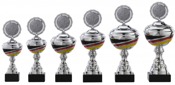 6er-Serie Pokale A1093 inkl. Gravur und Emblem