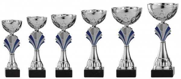 6er-Serie Pokale A1006 inkl. Gravur und Emblem