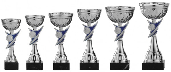 6er-Serie Pokale A1031 inkl. Gravur und Emblem