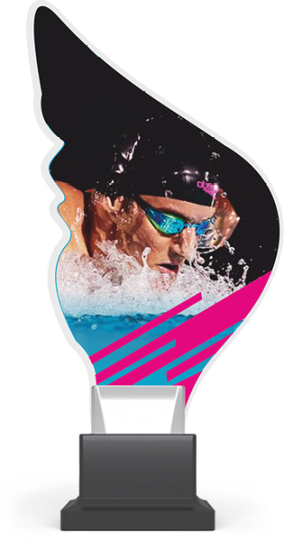 Acryltrophäe Schwimmen inkl. Gravur