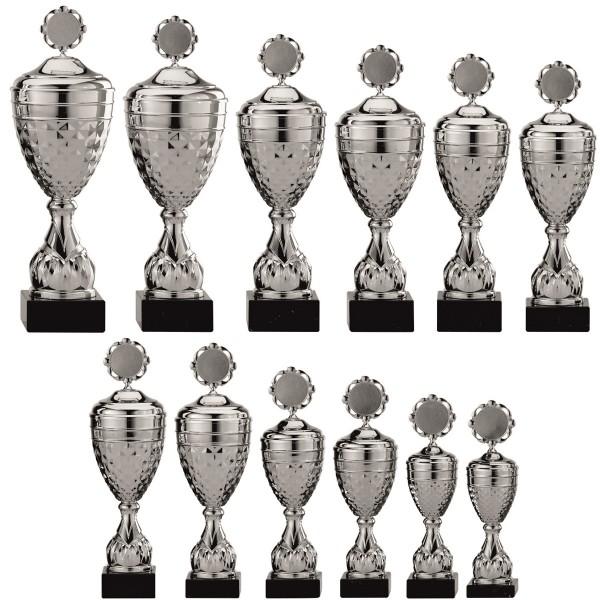 12er-Serie Pokale A4005 inkl. Gravur und Emblem
