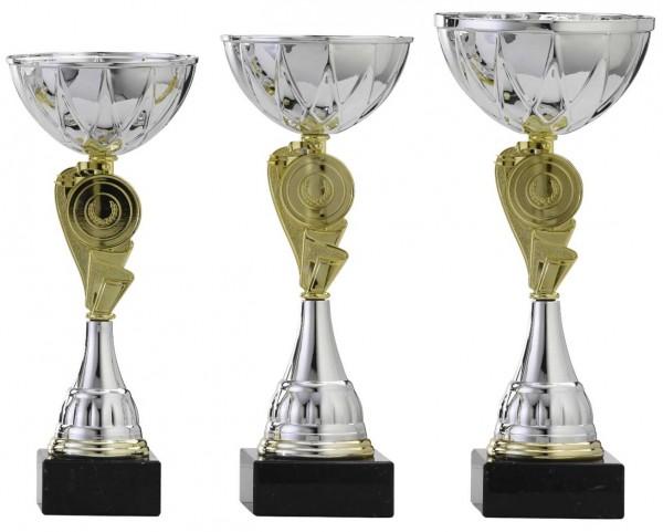 3er-Serie Pokale A4008 inkl. Gravur und Emblem