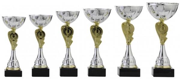 6er-Serie Pokale A4008 inkl. Gravur und Emblem