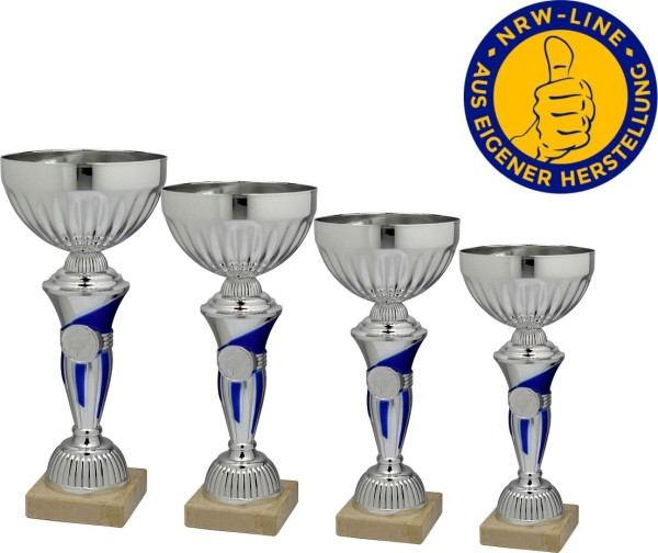 4er-Serie Pokale NRW Line inkl. Gravur und Emblem