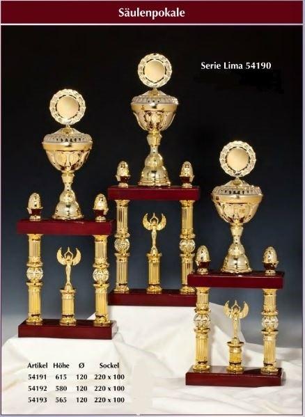 2-Säulenpokal Lima inkl.Emblem und Gravur