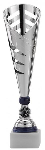 Pokal-Ständer Blau-Silber A297 inkl. Gravur und Emblem