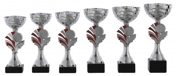 6er-Serie Pokale A1087 inkl. Gravur und Emblem