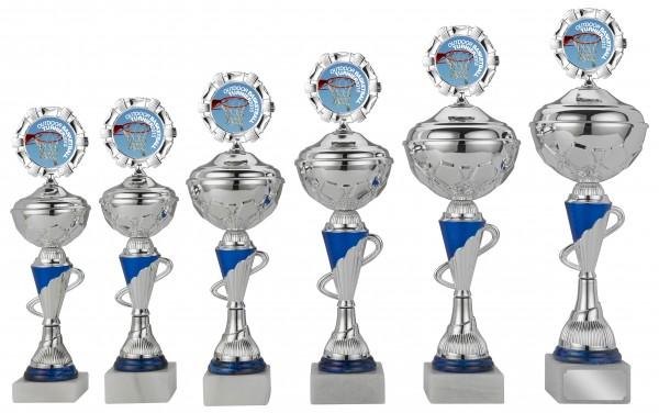 6er-Serie Pokale S417 inkl. Gravur und Emblem