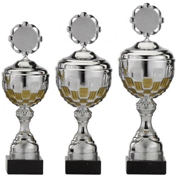 3er-Serie Pokale A4001 inkl. Gravur und Emblem