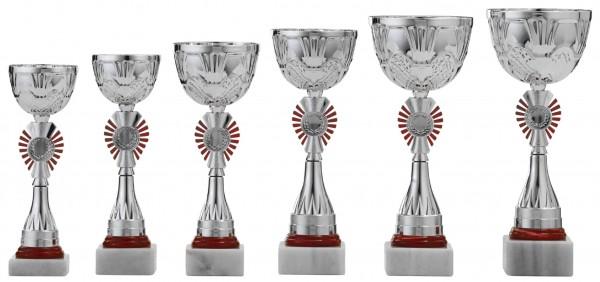 6er-Serie Pokale A1066 inkl. Gravur und Emblem