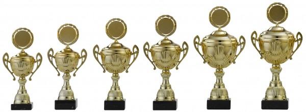 6er-Serie Pokale A4009 inkl. Gravur und Emblem