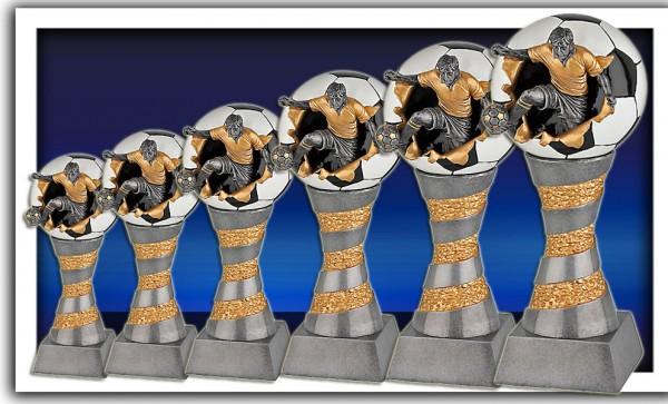 5er Serie Fußballpokalle in 3D Optik inkl. Gravur