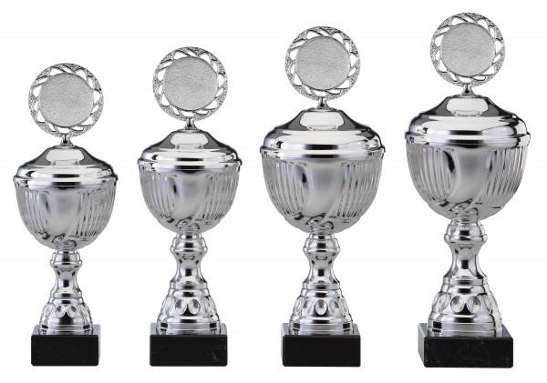 4er-Serie Pokale S464 inkl. Gravur und Emblem