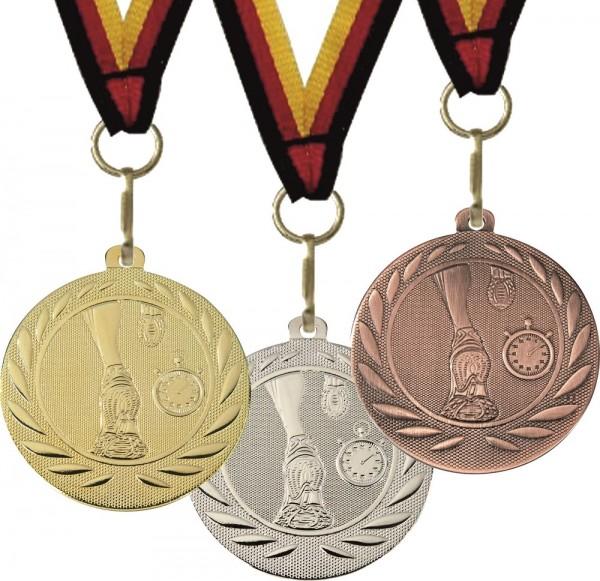 Lauf-Medaille DI5000G inkl. Band und Beschriftung