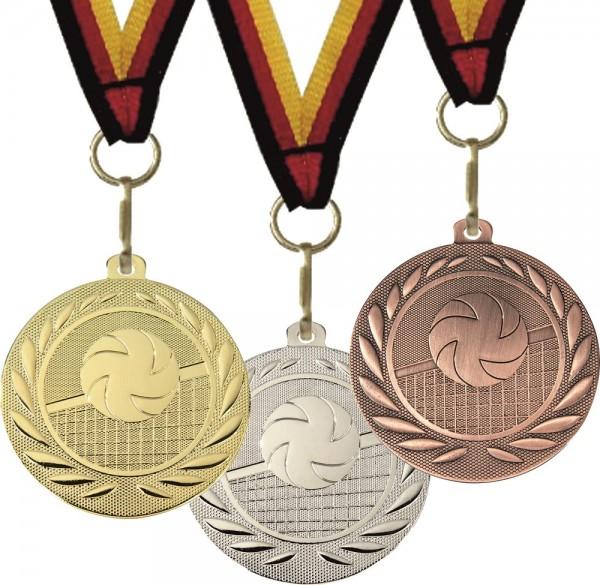 Volleyball-Medaille DI15000N inkl. Band und Beschriftung